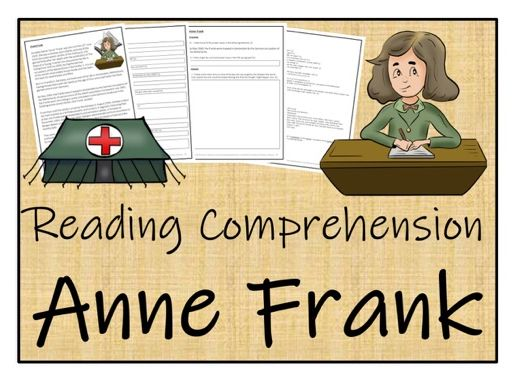 UKS2 History - Anne Frank Reading Comprehension Activity