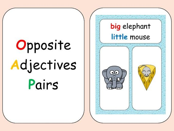 Opposite Adjectives Pairs