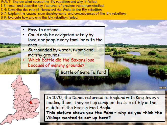 Hereward the Wake and the rebellion at Ely (Anglo-Saxon and Norman England (Edexcel 9-1))