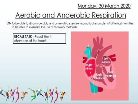 AQA 9 - 1 GCSE PE Aerobic and Anaerobic Respiration Lesson