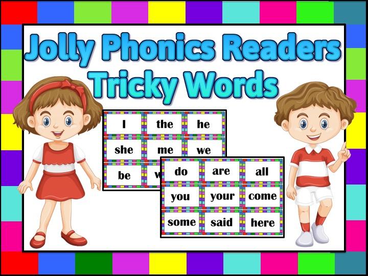 Phonics Tricky Words Flashcards