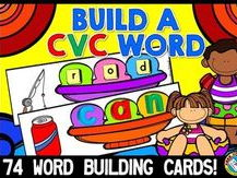 CVC WORDS: SUMMER LITERACY CENTER: BUILDING WORDS: CONSONANT VOWEL CONSONANT