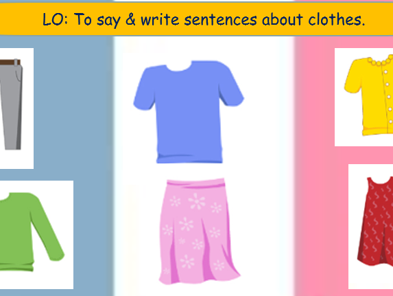KS2 French Lesson about Clothes & Colours