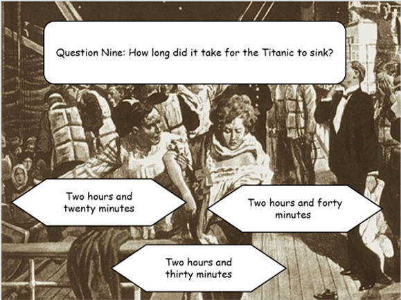 Interactive PowerPoint Titanic Quiz
