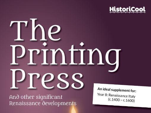 The Printing Press & Renaissance Inventions Resource Bundle