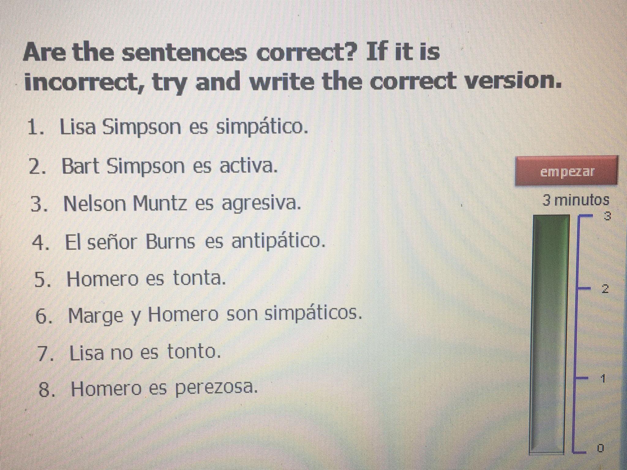 Spanish adjective agreement sentence auction