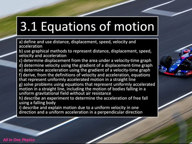 3.1 Equations of Motion
