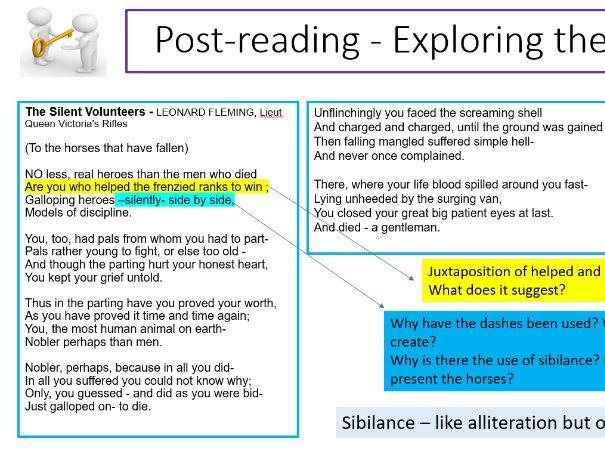 The Silent Volunteers poem analysis