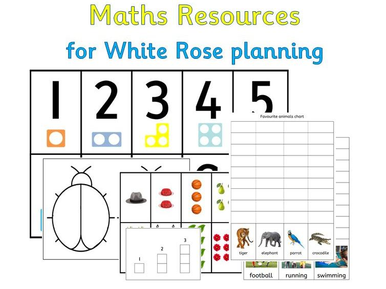 Maths Resources for White Rose/Numberblocks planning