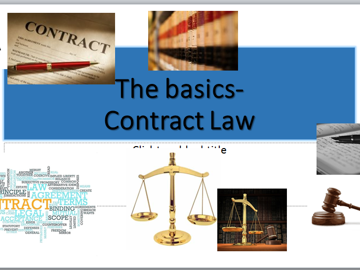 Contract Law- A Level (OCR NEW SPEC)- Introduction to Contract Law