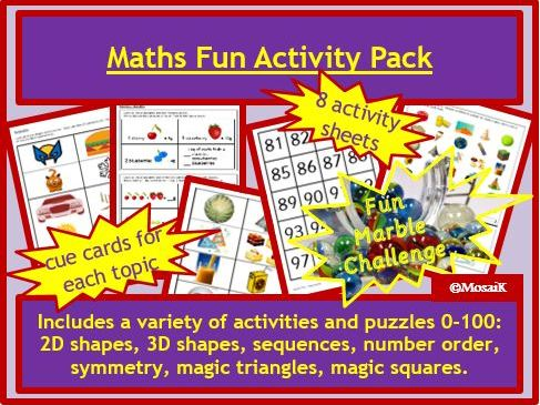Maths Fun end of year or end of term