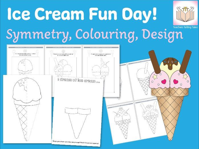 Ice Cream Fun Day! Symmetry, Decoration, Design