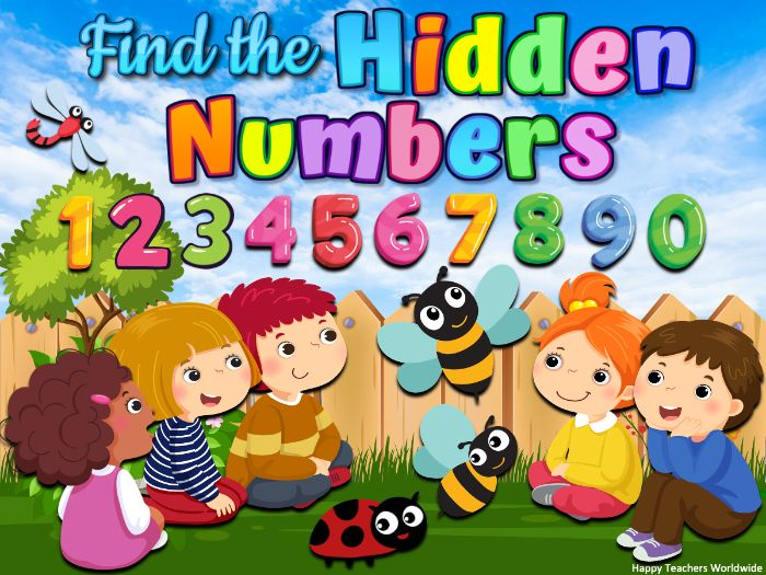 Numbers 1 to 100 Spring and Summer Find the Hidden Number Powerpoint Game