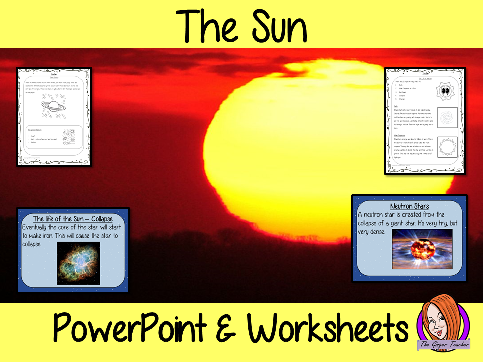 The Sun of our Solar System PowerPoint and Worksheets