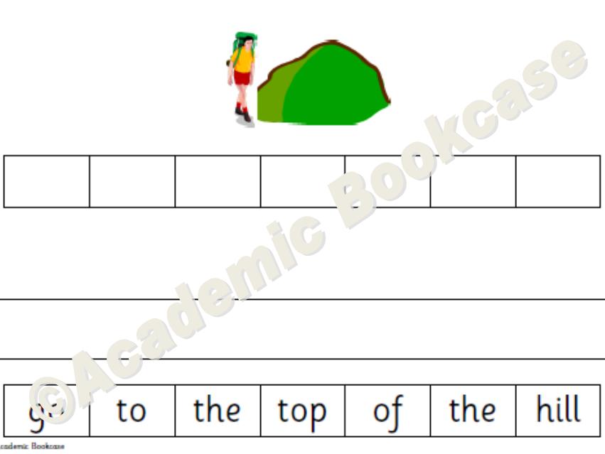 CVC caption ordering - Phase 2 activity worksheets