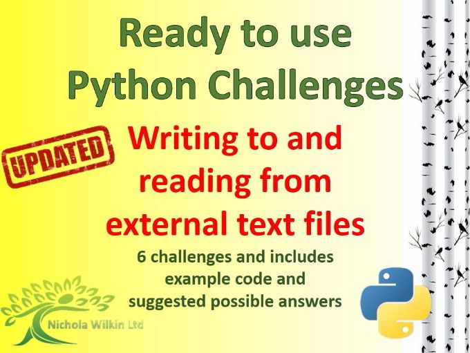 Python writing and reading from external text files