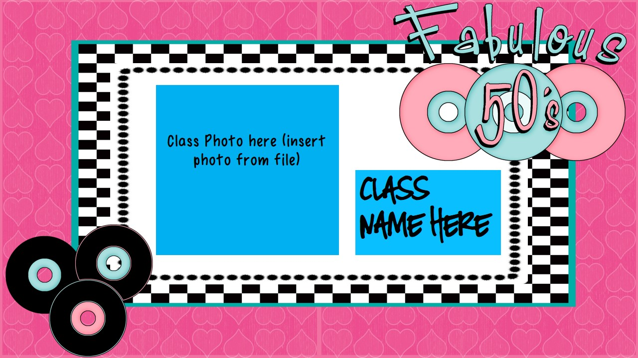Back to School/Meet The Teacher/Open House PPT - 1950's Sock Hop Theme (suitable for UK and US)
