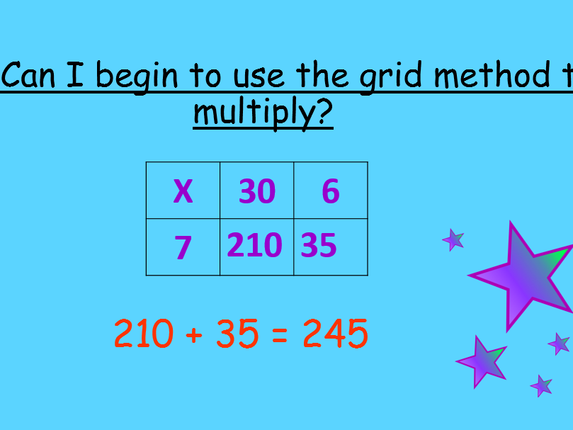 Grid lesson for multiplication PP, lesson plan and worksheets!