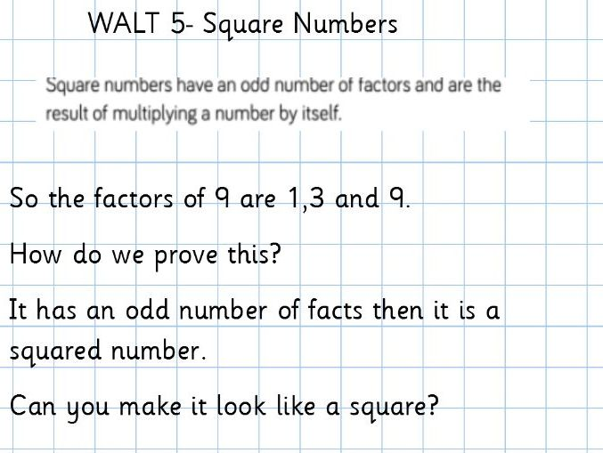 Year 5 WRM- Multiplication- square numbers, cubed numbers, multiplying and dividing up to 1000