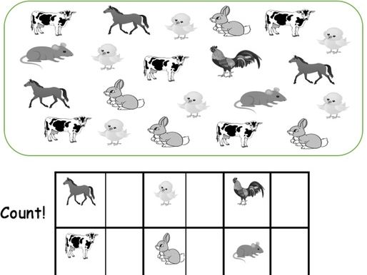 How Many Animals? - Count and Graph!