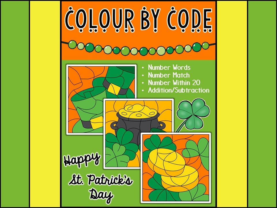 St. Patrick's Day Colour By Code