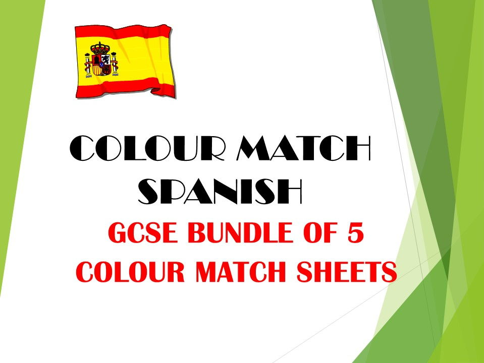 GCSE SPANISH colour match bundle 3 TRAVEL AND TOURISM