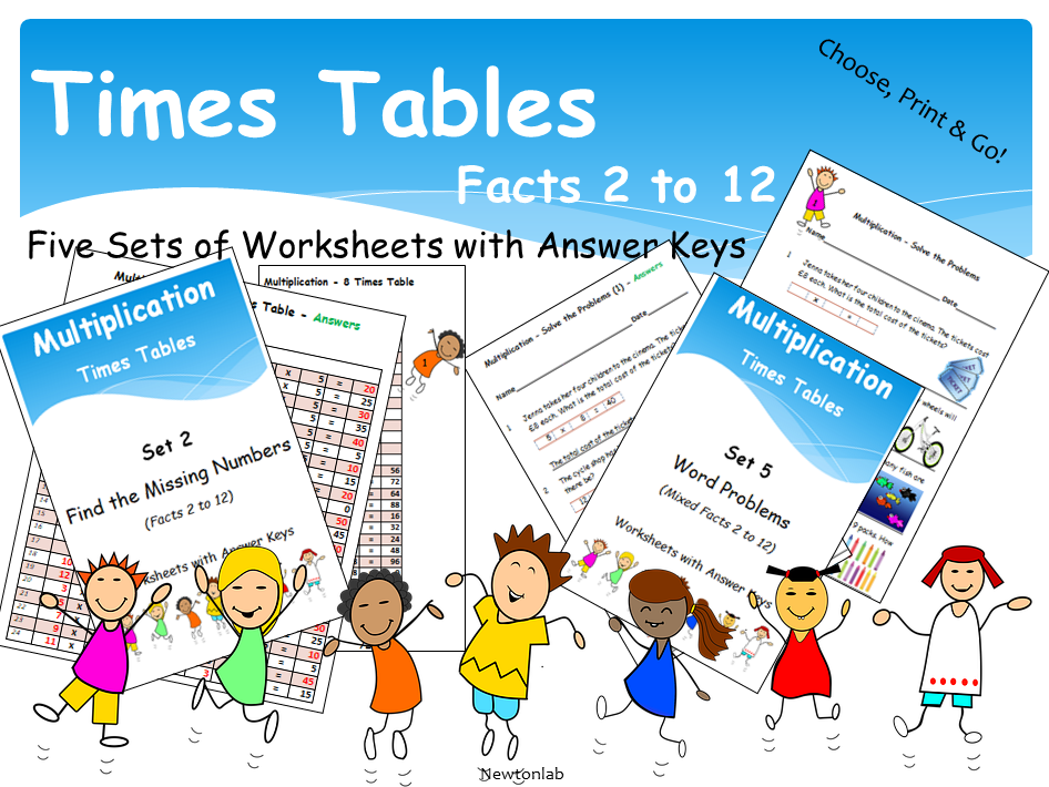 Times Tables 2 to 12