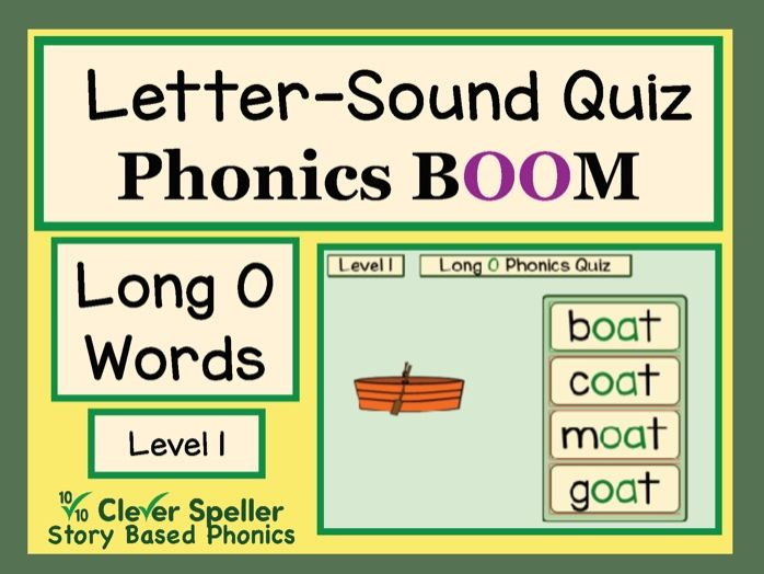 Phonics Practice Boom Cards Long O Words Level 1