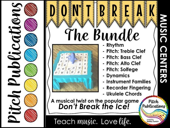 Music Center: Don't Break the Music Bundle! Pitch, rhythm, dynamics, & more!
