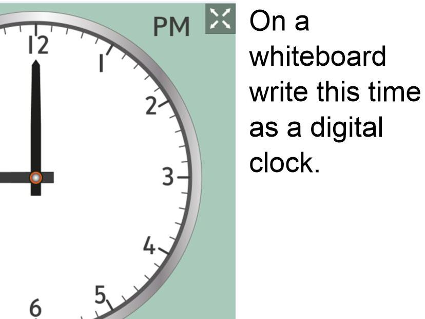 Telling the time on analogue clocks NOTEBOOK