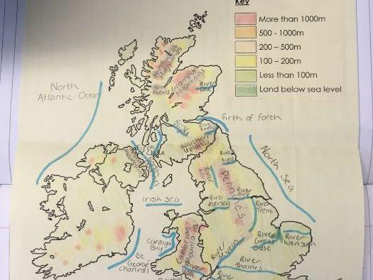 Design a UK landscape model tasksheet