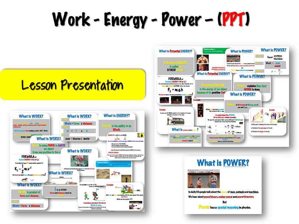 Work - Energy - Power – Lesson Presentation - (PPT)