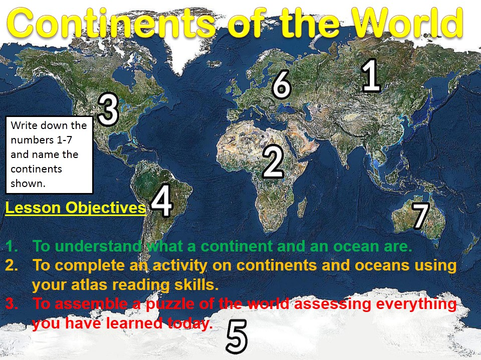 Year 7 Making Connections 2017-2018 7) Continents and Oceans WITH ANSWERS