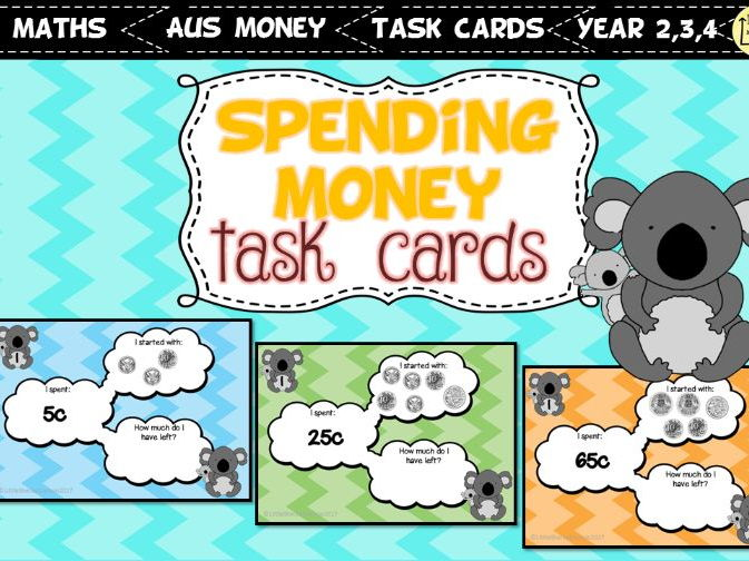 Spending Money Task Cards AUSTRALIAN COINS VERSION
