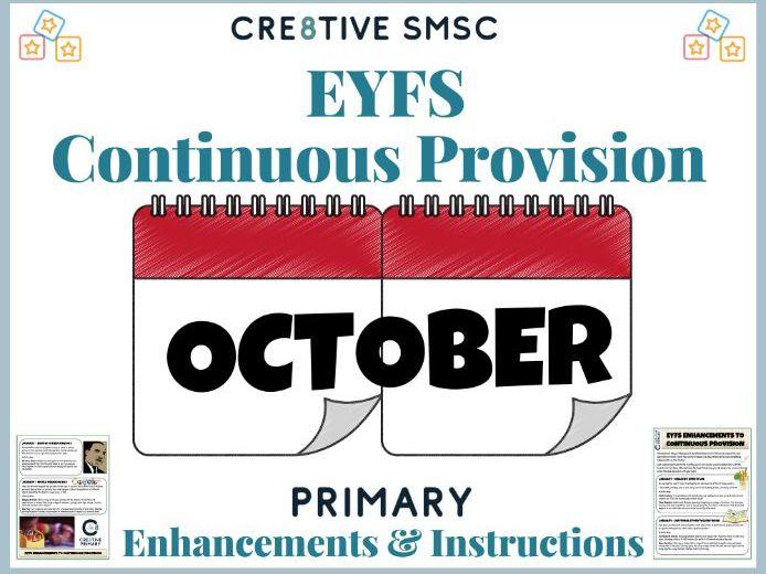EYFS Pre School Activities -October
