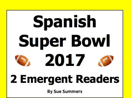 Super Bowl 2017 - 2 Emergent Reader Booklets in Spanish - Fútbol Americano
