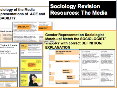 Sociology Revision Resources: The Media