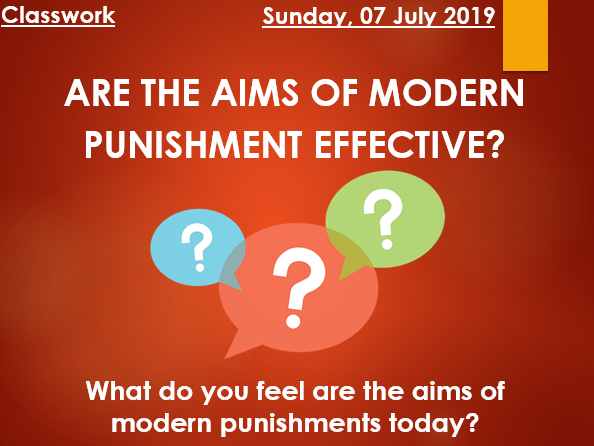 Is punishment effective?