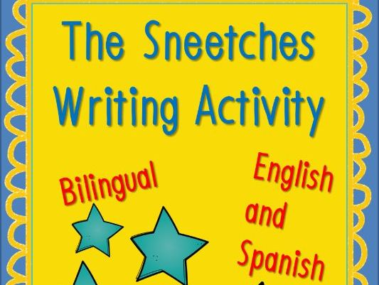 Dr. Seuss Sneetches Writing Activity Bilingual English and Spanish