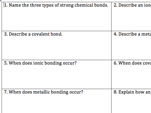 5.2 AQA Trilogy Bonding Revision Qs from Specification