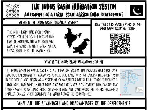 Indus Basin Irrigation System- Case study sheet