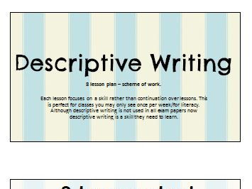 Descriptive Writing: 8 Lesson Set