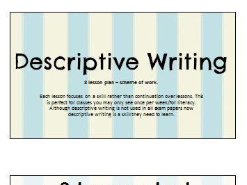 Descriptive Writing: 8 Lesson Set