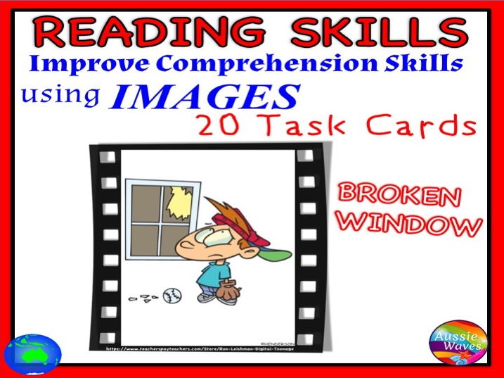 """VISUALISING Reading Comprehension & Connection Skills using Images VISUAL TEXT """"BROKEN WINDOW"""""""