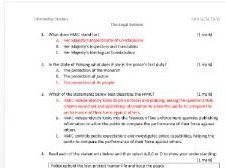 The Legal System: Citizenship GCSE 9-1 OCR multiple choice exam (objective assessment) with answers