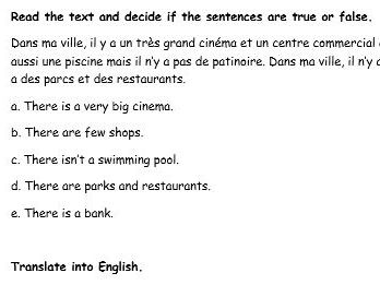 French activities IL Y A with 4 topics