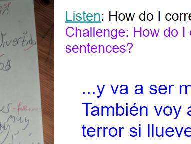 KS3 Year 9 Spanish Los programas de televisión TV programmes *listening skills* 3 lessons GCSE skill