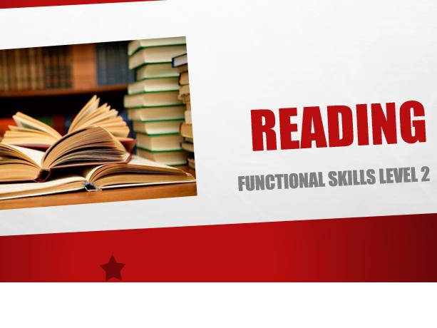 Functional Skills English Reading Level 2 - 110 slide PPT