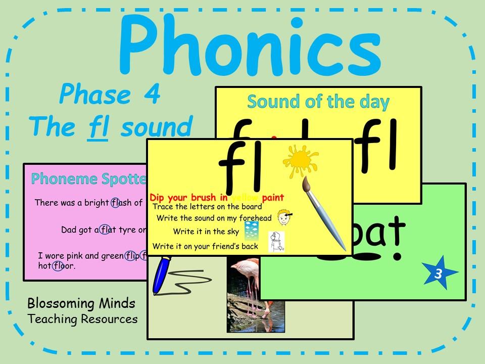 Phonics phase 4 - Consonant blends - The 'fl' sound
