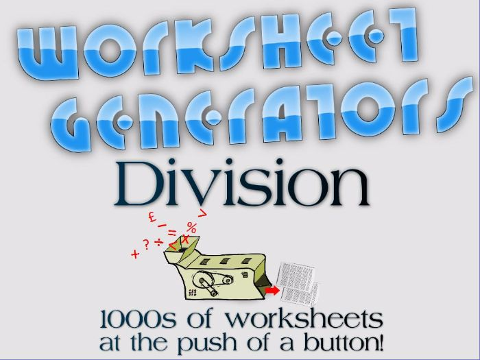 ks2 short division worksheet generator by mrajlong teaching resources. Black Bedroom Furniture Sets. Home Design Ideas